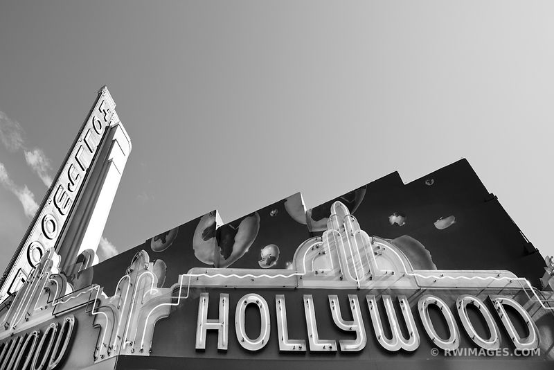 HOLLYWOOD CALIFORNIA BLACK AND WHITE