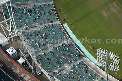 Spectators at the Oval Cricket Ground