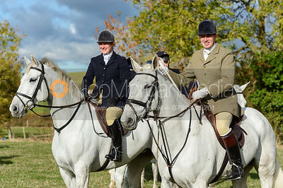Holly Campbell, Rowan Cope near Little Dalby. Quorn Hunt Opening Meet 2018