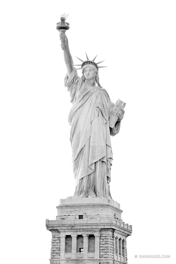 STATUE OF LIBERTY NEW YORK CITY NEW YORK BLACK AND WHITE VERTICAL