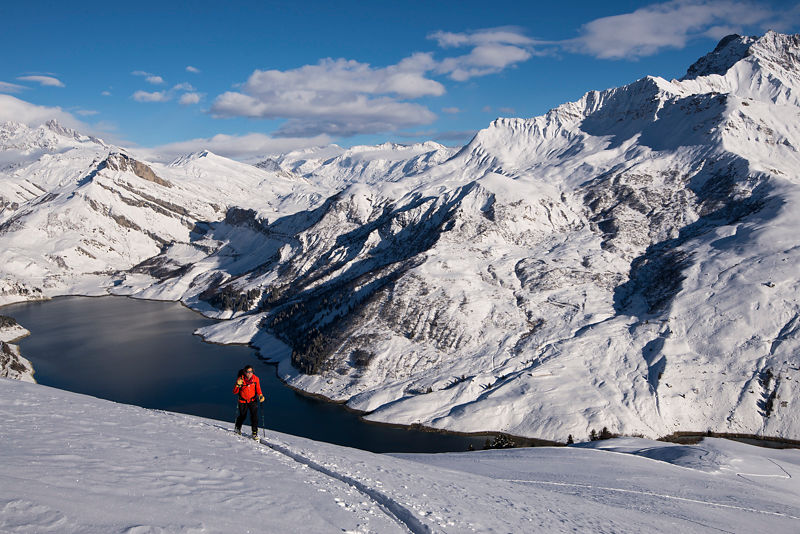 Stage ski de randonnée dans les Alpes avec un guide de haute montagne