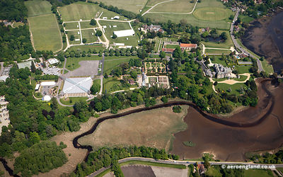 aerial photograph of the National Motor Museum Beaulieu  Hampshire   England UK