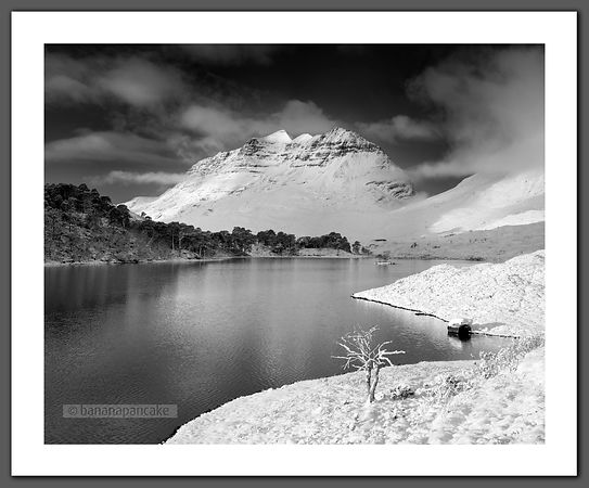 Liathach from Loch Clair, Winter (BP3525)