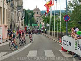 Aubenas, Le Tour de France 2015