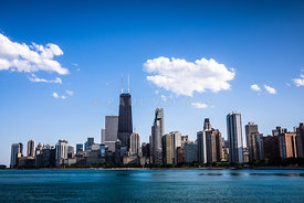 Downtown City Skyline of Chicago