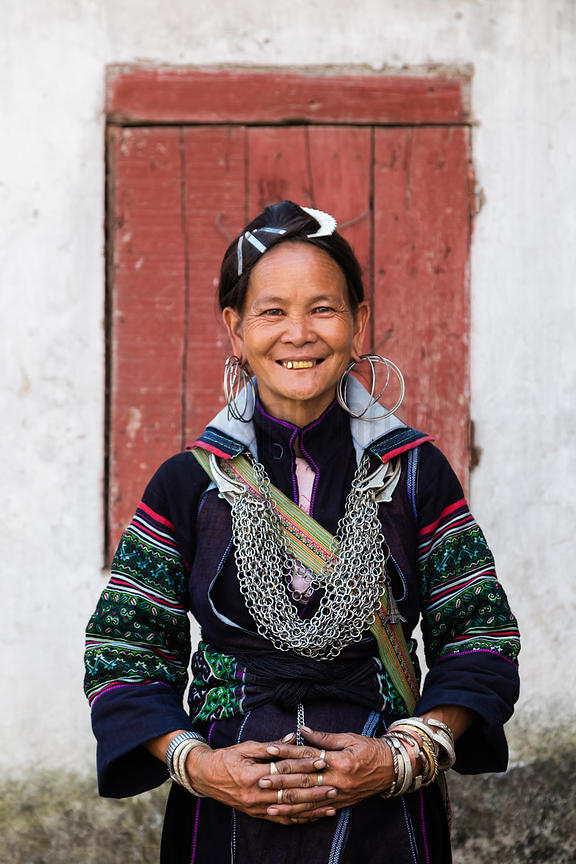 Portrait of a Woman from the Black Hmong Tribe