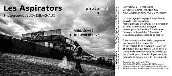 "Vernissage: ""Les Aspirators"" Photographies Luca Delachaux"