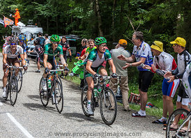 The Cyclist Thomas Voeckler Climbing Col du Granier - Tour de France 2012