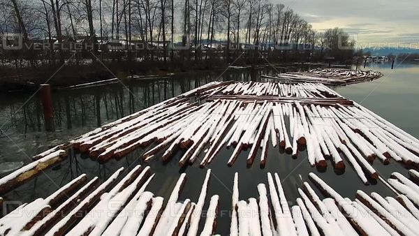 Log Booms. British Columbia Forestry Industry