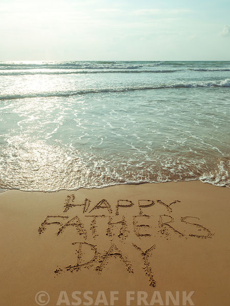 Beach writing - Happy fathers day
