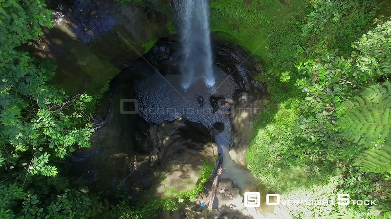 Jungle Waterfall at Gandoca Manzanillo National Wildlife Refuge. Bribri Costa Rica Drone Video
