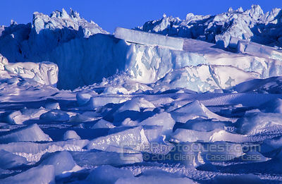 Large Blocks of Upturned Sea-Ice