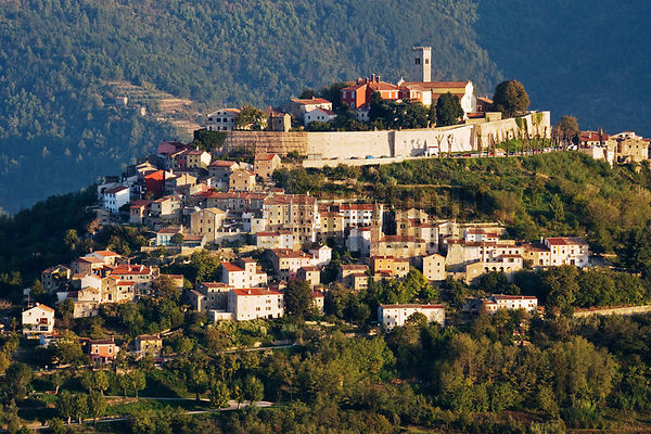 The hill town of Motovun, Istria (the new Tuscany), Croatia