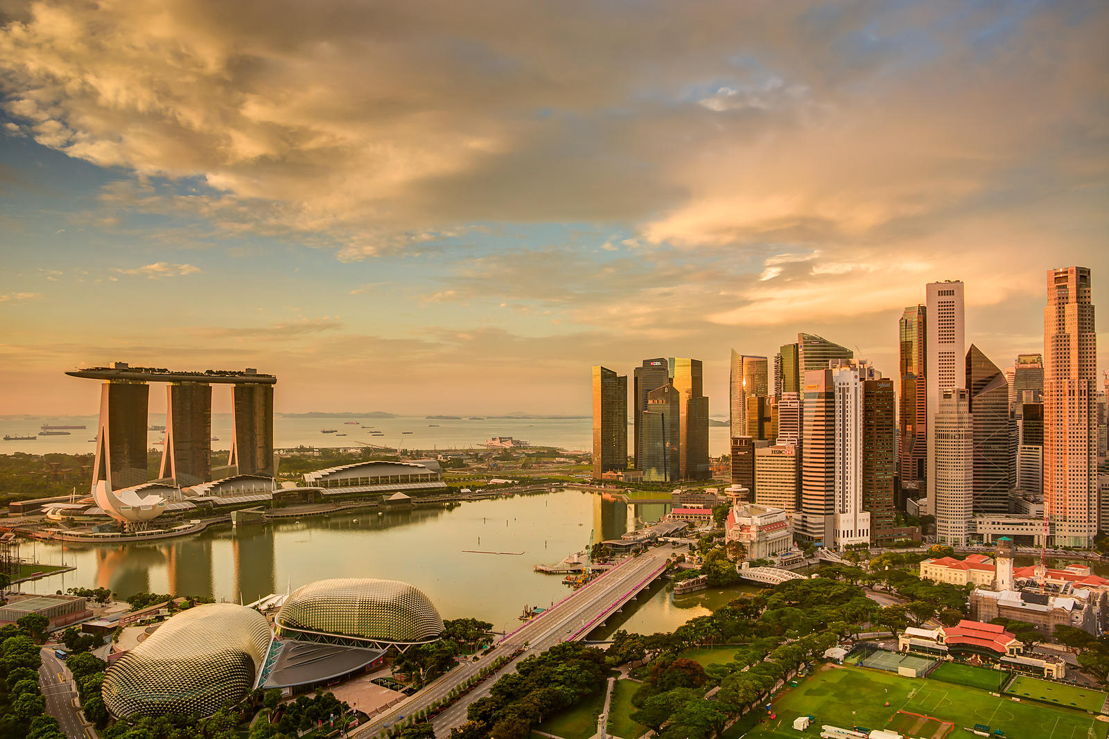 Singapore Skyline at Sunrise