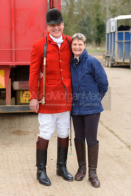 David Bellamy, Nina Camm - The South Shropshire and Belvoir Hunts at Belvoir Castle 11/3/17
