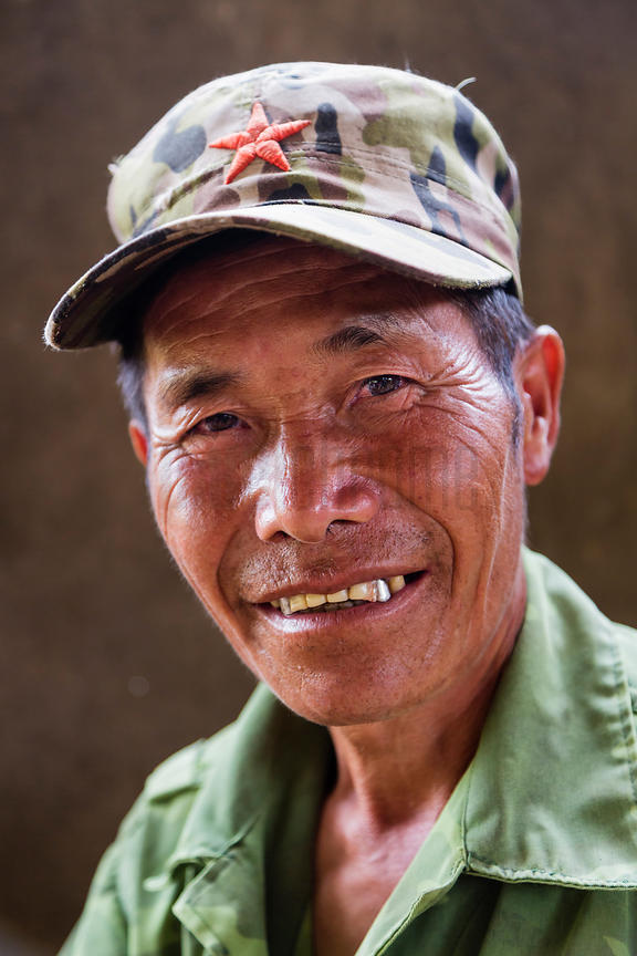 Portrait of a Man from the Flower Hmong Tribe