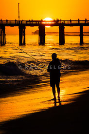 Orange County California  Sunset Fishing Picture
