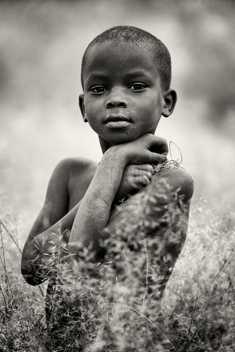 Portrait of a Child from the Nyangatom Tribe