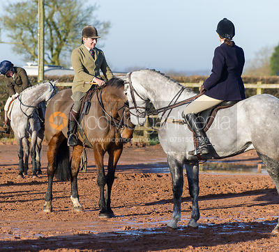 Bruce Langley McKim - The Quorn Hunt at Swan Lodge 16/12