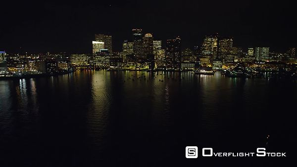 Downtown Boston at night from the Charles River.