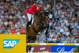 19/07/18, Aachen, Germany, Sport, Equestrian sport CHIO Aachen 2018 - ,  Image shows Werner MUFF (SUI) riding Daimler. Copyri...