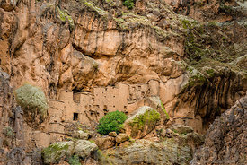 A 12th century grain store or Agadir at the Berber village of Tizgui in the Anti Atlas mountains of Morocco.