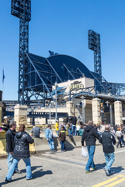 Pedestrians Arriving at PNC Park