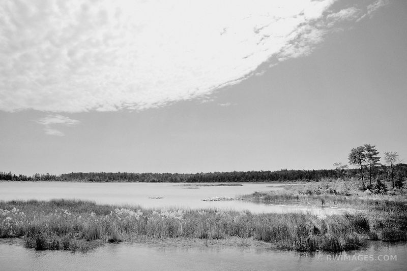 JACKSON HARBOR RIDGES WASHINGTON ISLAND DOOR COUNTY WISCONSIN BLACK AND WHITE