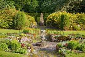 Sunken Garden featuring sundial and stone obelisk by Joe Smith