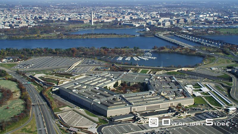 Approaching and rotating the Pentagon.