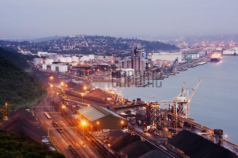 Shipping Terminals along the Bluff at Dawn