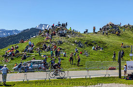 Cycling Fans in Mountains