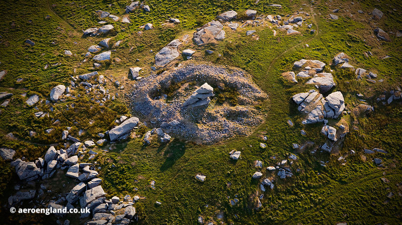 Showery Tor Ring Cairn Bodmin Moor from the air