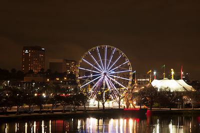 Ferris wheel at night in Melbourne
