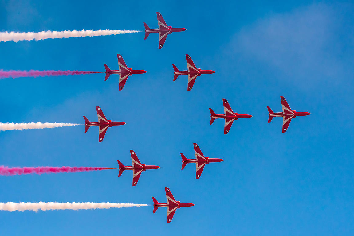 Red Arrows Typhoon formation