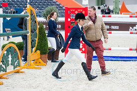Paris, France, 17.3.2018, Sport, Reitsport, Saut Hermes - .PRIX GL Events Bild zeigt Edwina Tops Alexande, Jan Tops...17/03/1...