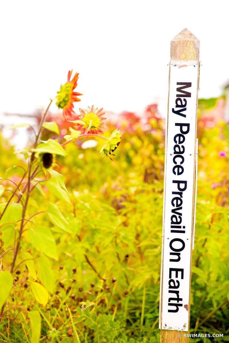 MAY PEACE PREVAIL ON EARTH MENEMSHA FISHING VILLAGE CHILMARK MARTHA'S VINEYARD COLOR