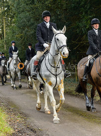 Dick Wise leaving the Cottesmore Hunt meet at Little Dalby Hall