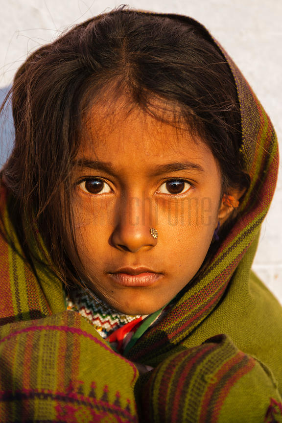 Portrait of a Young Tribal Girl