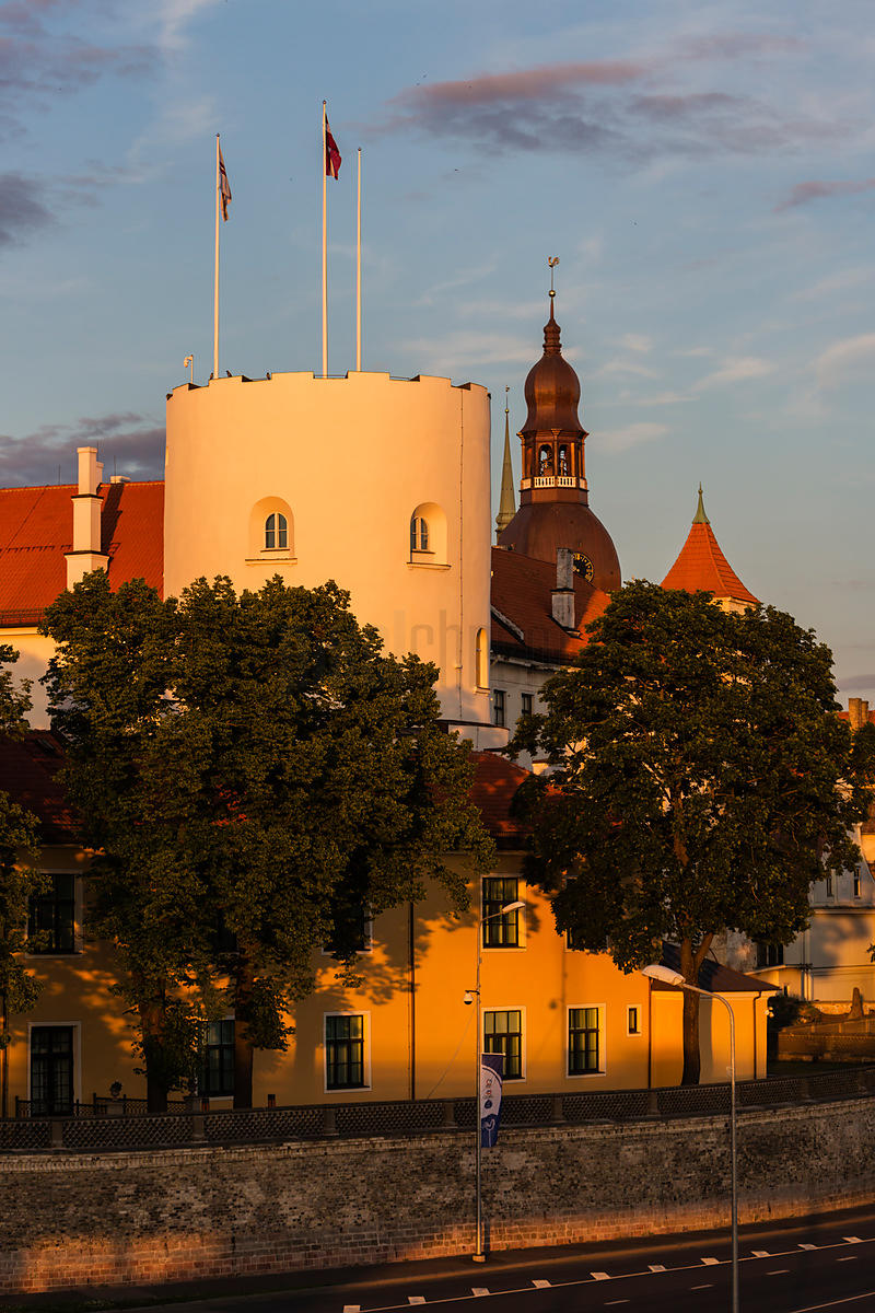 Riga Castle from the Vansu Bridge