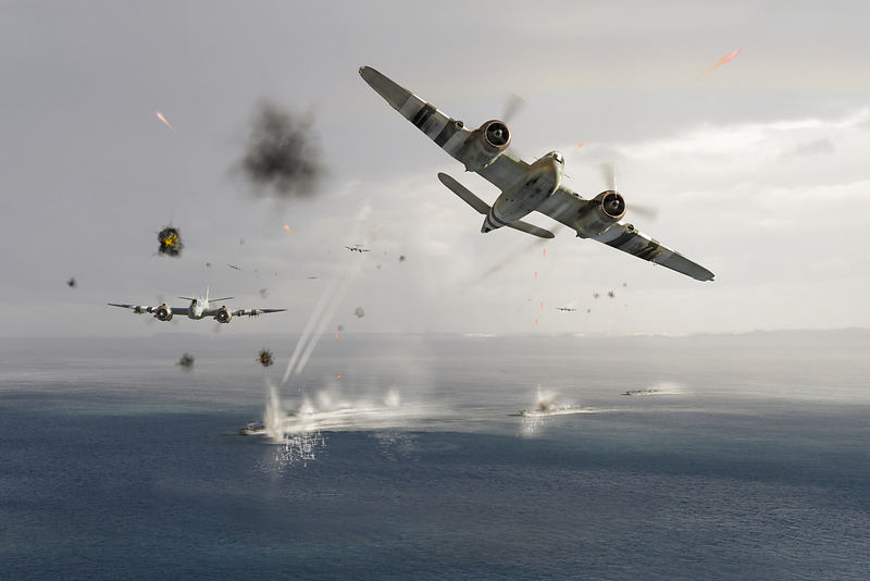 Beaufighters attacking E-boats