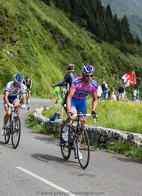 Climbing Col d'Aubique - Tour de France 2011