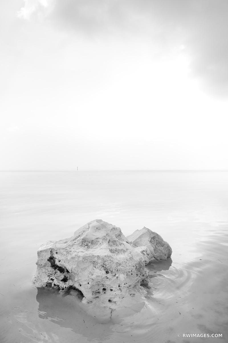 ANNE'S BEACH ISLAMORADA LOWER MATECUMBE KEY FLORIDA KEYS BLACK AND WHITE