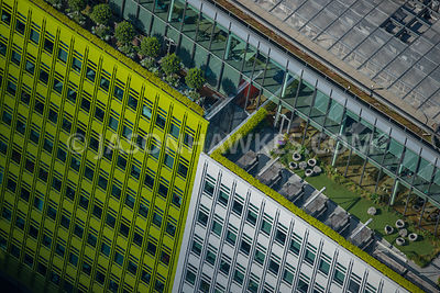 Aerial view of London Central St Giles Roof Gardens