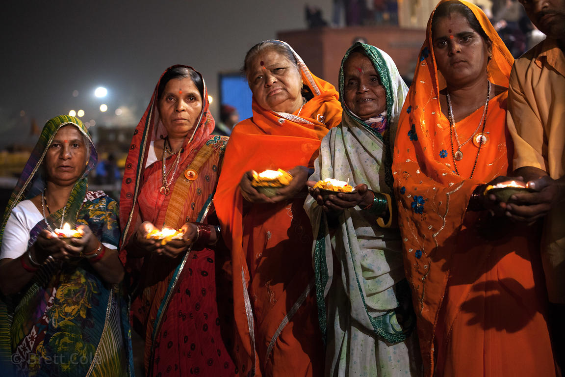 Ganga aarti on Dashashwamedh ghat, Varanasi, India.