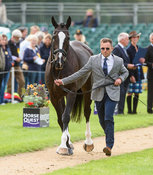 Ben Hobday and HARELAW WIZARD at the trot up, Land Rover Burghley Horse Trials 2018