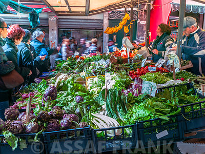 Vegetable market in Rialto, Venice, Italy