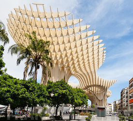 Metropol Parasol Parasol building in Seville, Spain- design by J. MAYER H. Architects.  The Metropol Parasol scheme with its ...