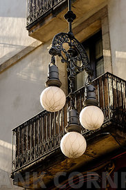 Street lamps in Barcelona.