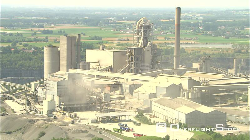 Mineral extraction plant above a quarry in Tournai, Belgium